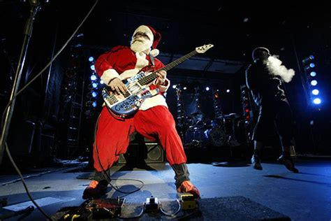 Red Hot Chili Peppers   Rockers Dressed as Santa Claus